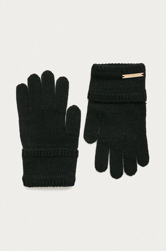černá Trussardi Jeans - Rukavice Dámský