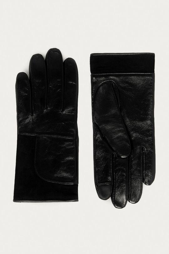 černá Hugo - Kožené rukavice Dámský