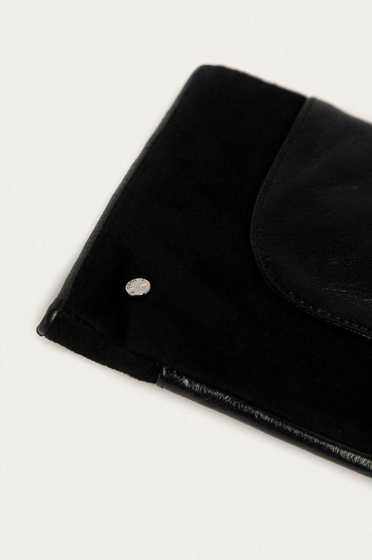 Hugo - Kožené rukavice černá