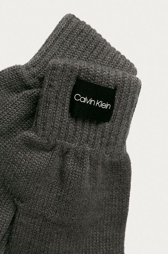 Calvin Klein - Rukavice sivá