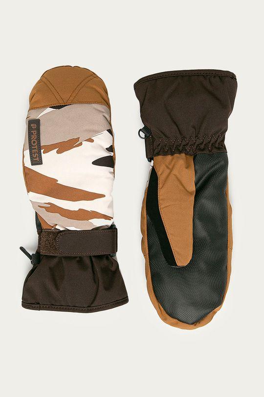 brązowy Protest - Rękawiczki Męski