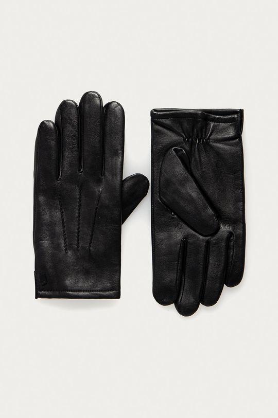 černá Karl Lagerfeld - Kožené rukavice Pánský