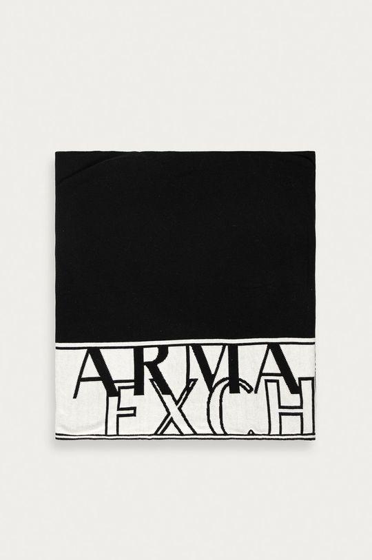 czarny Armani Exchange - Szalik Męski