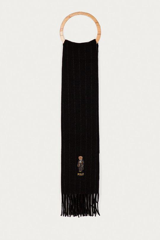 czarny Polo Ralph Lauren - Szalik Męski