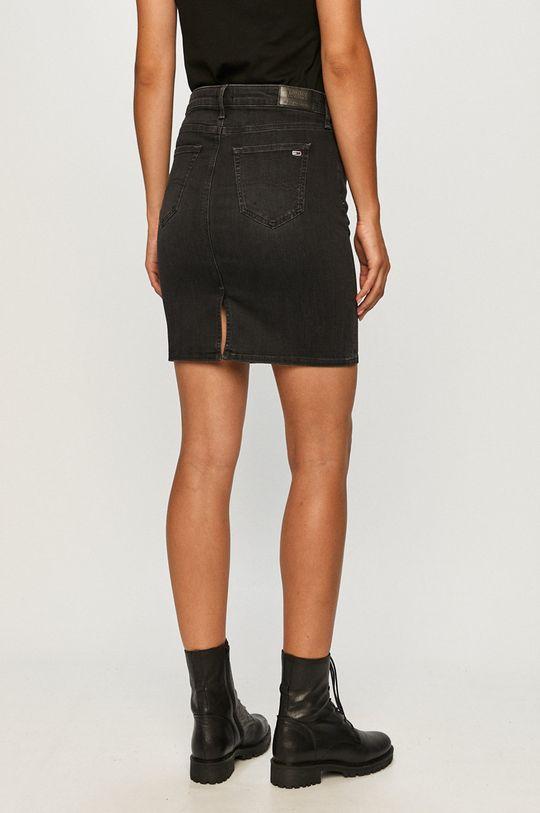 Tommy Jeans - Rifľová sukňa  89% Bavlna, 3% Elastan, 8% Elastomultiester
