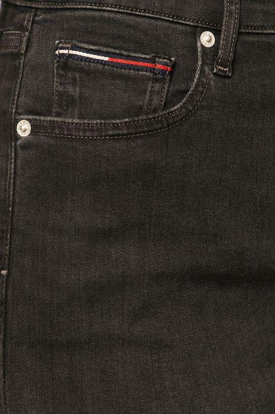 čierna Tommy Jeans - Rifľová sukňa