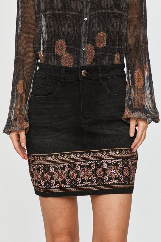 negru Desigual - Fusta jeans De femei
