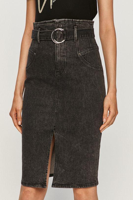 czarny Guess Jeans - Spódnica jeansowa Damski