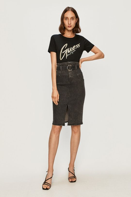 Guess Jeans - Spódnica jeansowa czarny