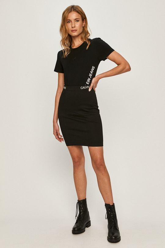 Calvin Klein Jeans - Fusta negru