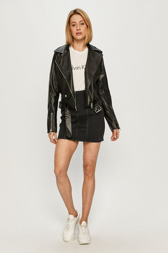 Calvin Klein Jeans - Spódnica jeansowa czarny
