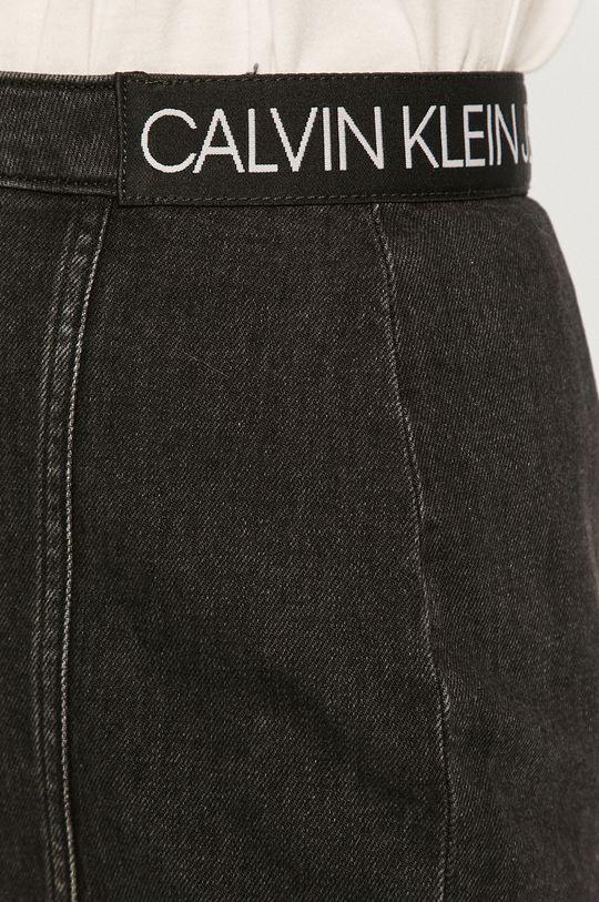 czarny Calvin Klein Jeans - Spódnica jeansowa