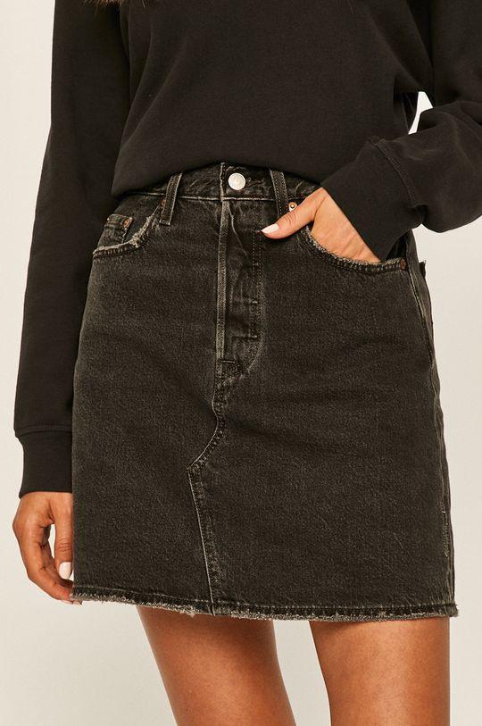 czarny Levi's - Spódnica jeansowa Damski