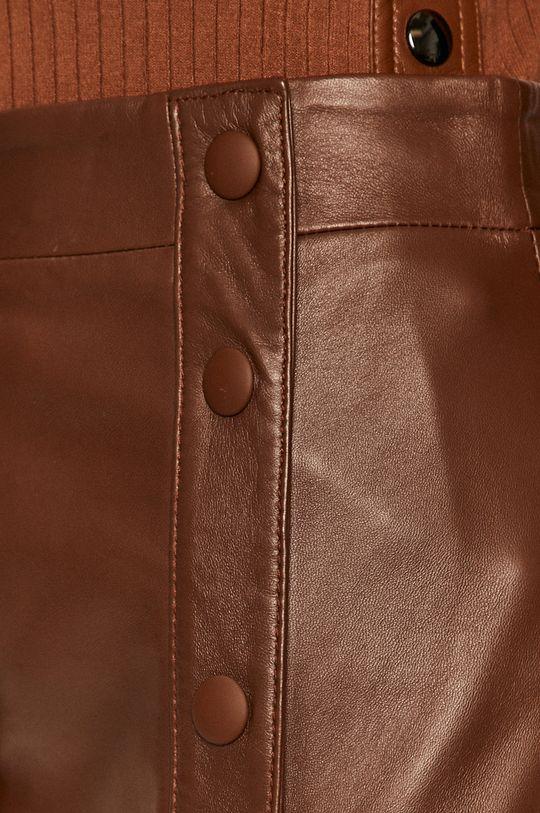 zlatohnědá Sportmax Code - Kožená sukně