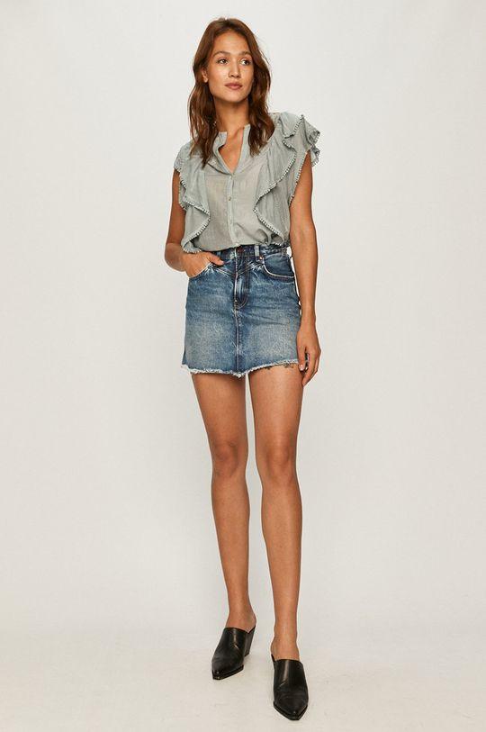 Pepe Jeans - Spódnica jeansowa Rachel niebieski