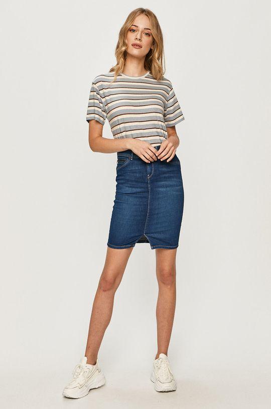 Pepe Jeans - Rifľová sukňa Taylor modrá