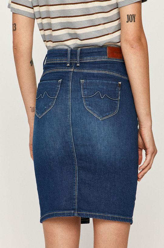 Pepe Jeans - Rifľová sukňa Taylor  Základná látka: 92% Bavlna, 2% Elastan, 6% Polyester Podšívka vrecka: 35% Bavlna, 65% Polyester