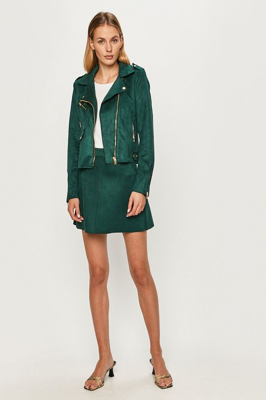 Only - Spódnica stalowy zielony