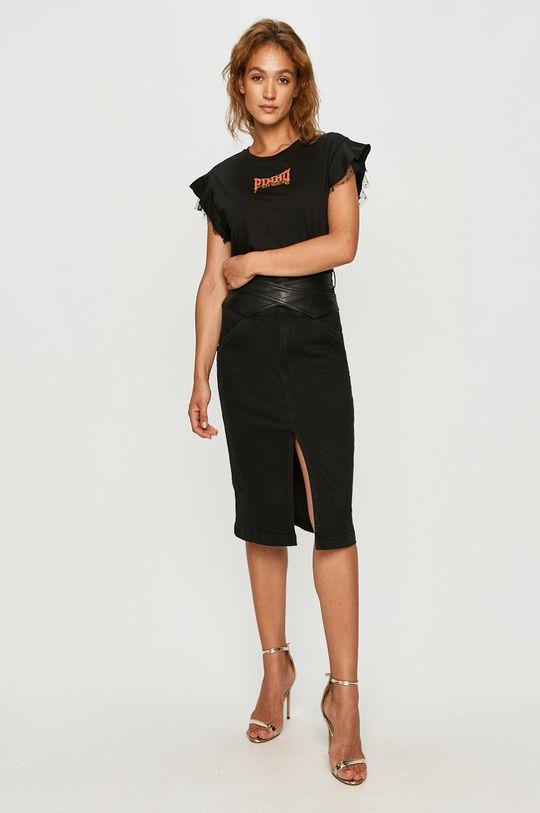 Pinko - Spódnica jeansowa czarny