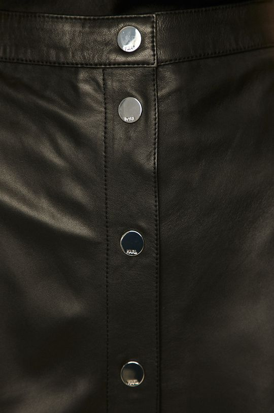 czarny Karl Lagerfeld - Spódnica skórzana