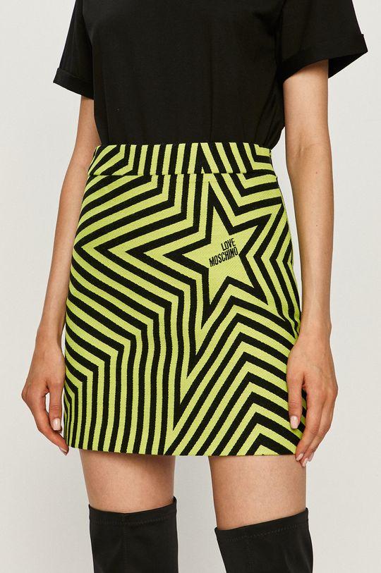 żółto - zielony Love Moschino - Spódnica