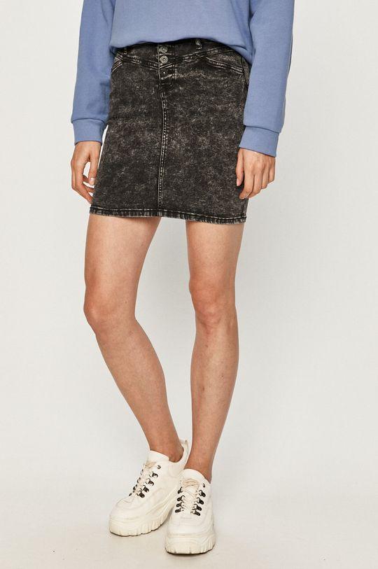 czarny Haily's - Spódnica jeansowa Damski
