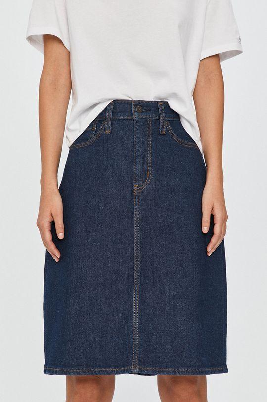 bleumarin Levi's - Fusta jeans De femei