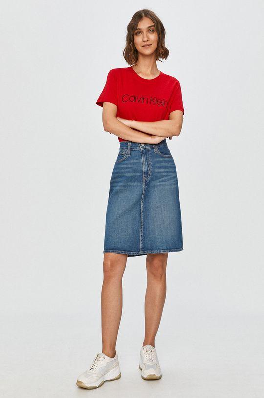 Levi's - Rifľová sukňa modrá