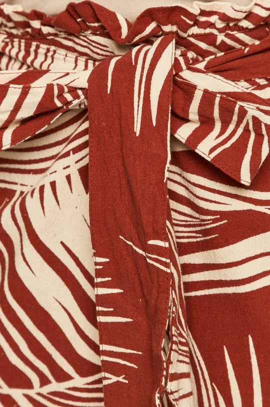 mahagóni vörös Only - Rövidnadrág