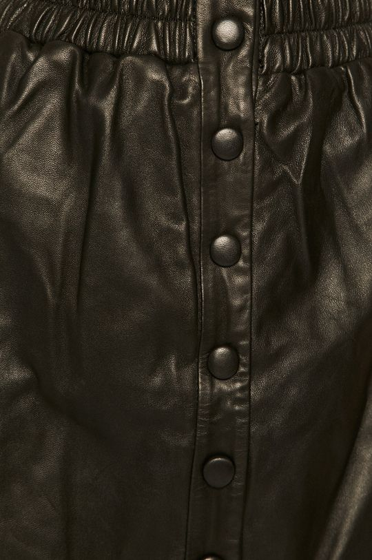 černá Pepe Jeans - Kožená sukně Marie