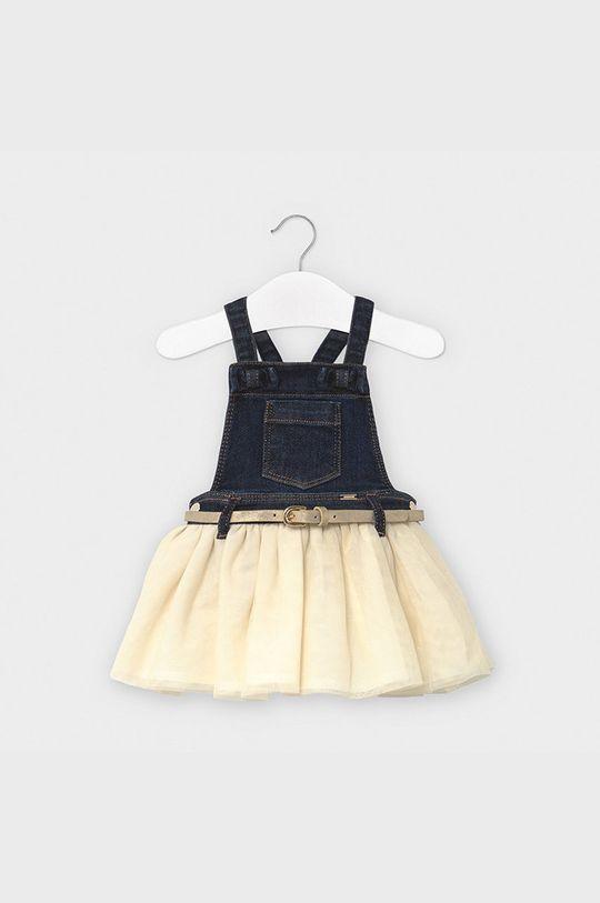złoty Mayoral - Sukienka niemowlęca 74-98 cm Dziewczęcy