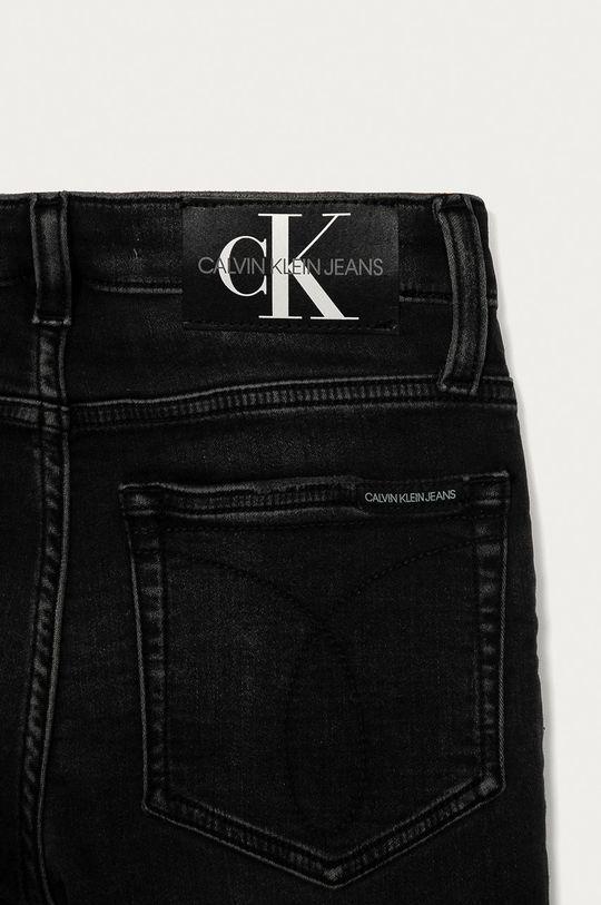 grafitová Calvin Klein Jeans - Dětské rifle 140-176 cm