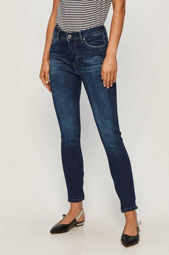 niebieski Pepe Jeans - Jeansy Cher High Damski
