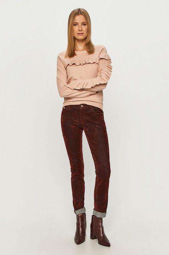 Trussardi Jeans - Kalhoty kaštanová