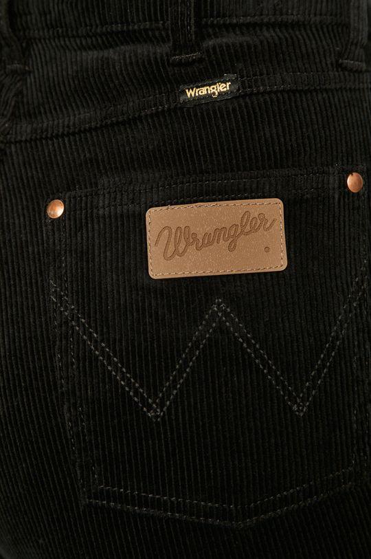 czarny Wrangler - Spodnie