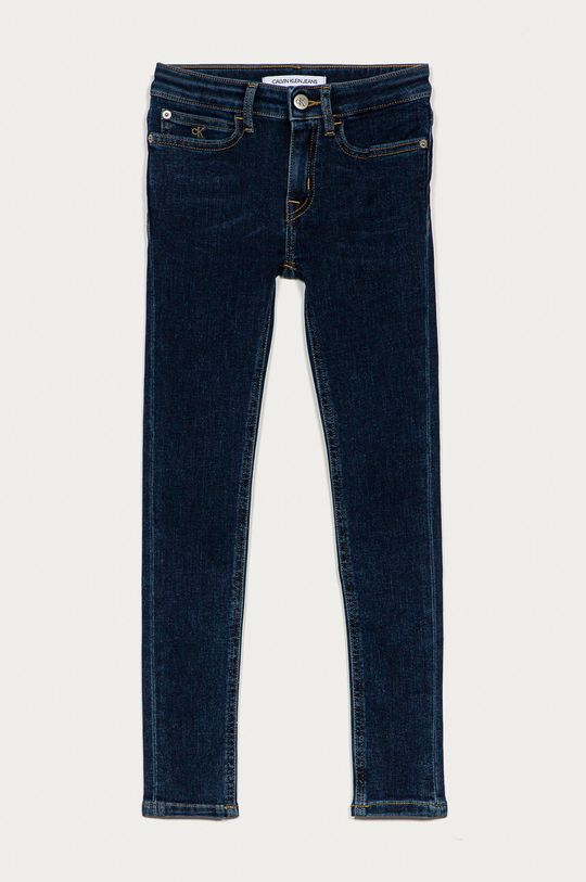 námořnická modř Calvin Klein Jeans - Dětské rifle 128-176 cm Dívčí