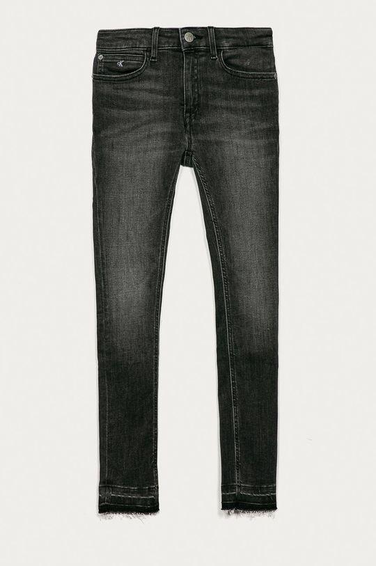 šedá Calvin Klein Jeans - Dětské rifle 140-176 cm Dívčí