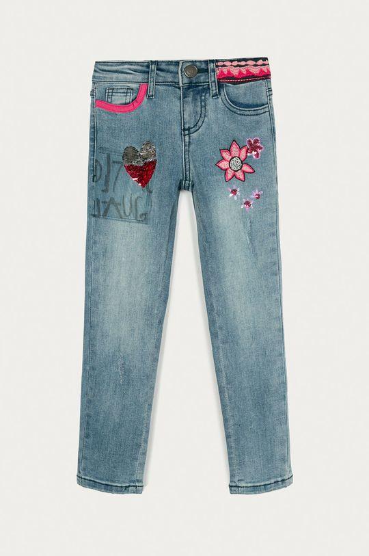 niebieski Desigual - Jeansy dziecięce 104-164 cm Dziewczęcy