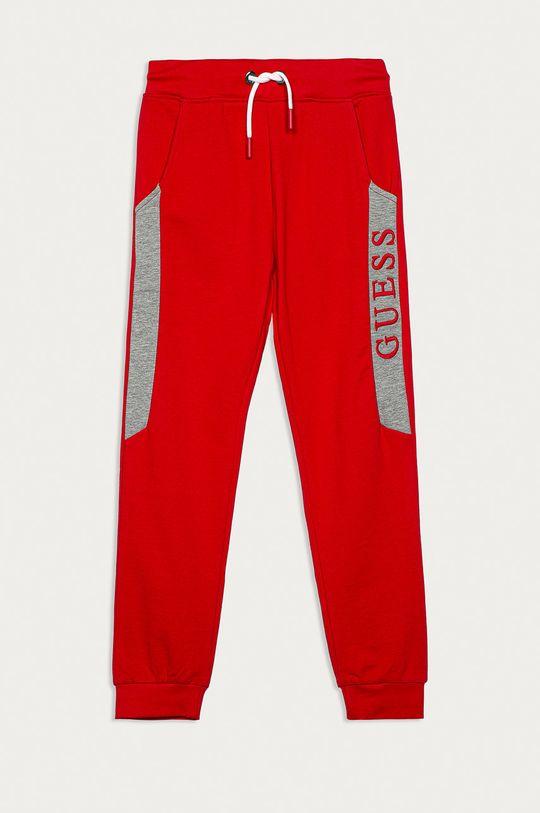rosu Guess Jeans - Pantaloni copii 116-175 De băieți