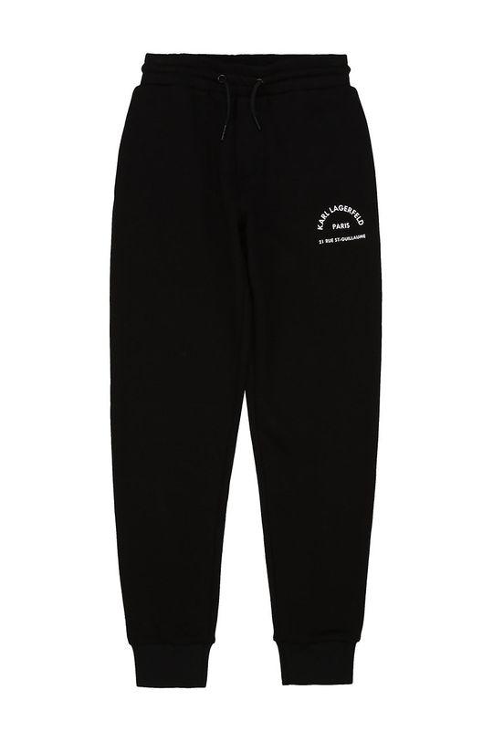 чорний Karl Lagerfeld - Дитячі штани Для хлопчиків