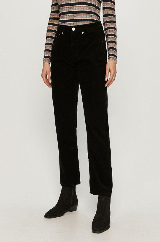 czarny Tommy Jeans - Spodnie Damski