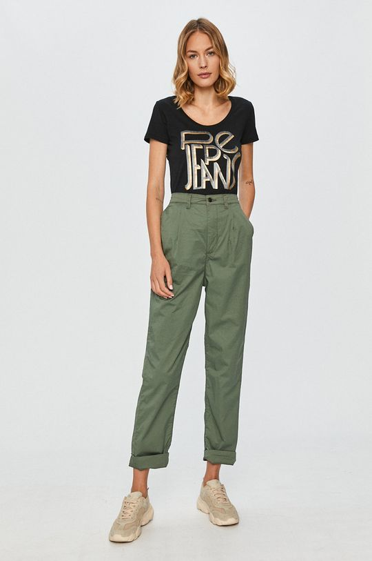 Pepe Jeans - Pantaloni Breeze masliniu deschis