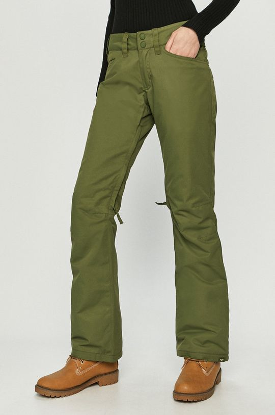 oliwkowy Roxy - Spodnie snowboardowe Damski