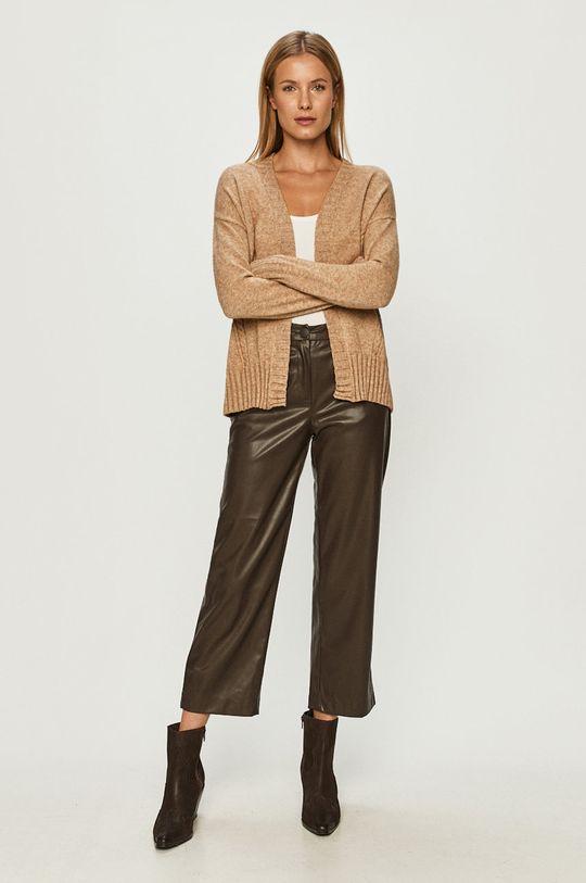 Only - Spodnie brązowy