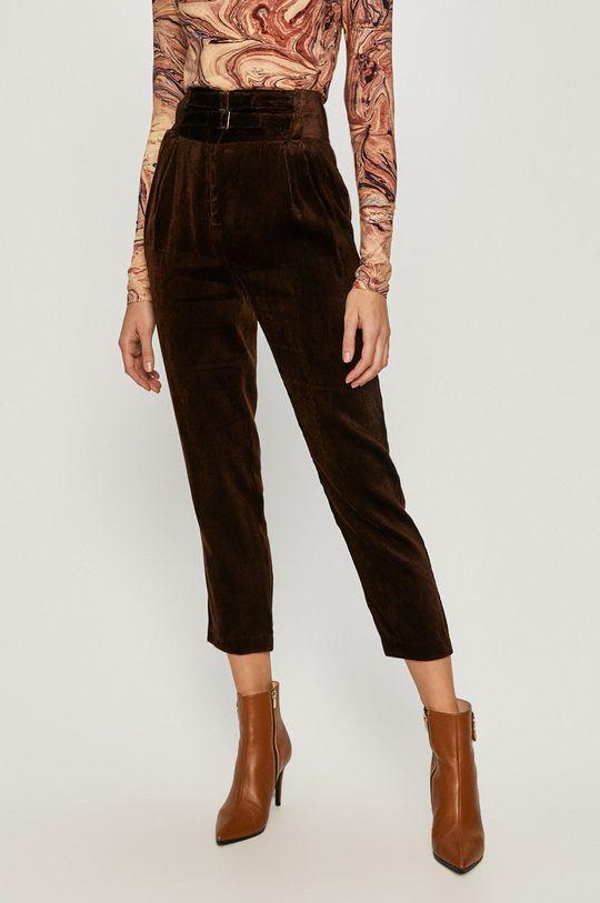 ciemny brązowy Pinko - Spodnie Damski