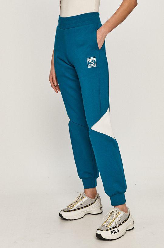 niebieski Puma - Spodnie Damski