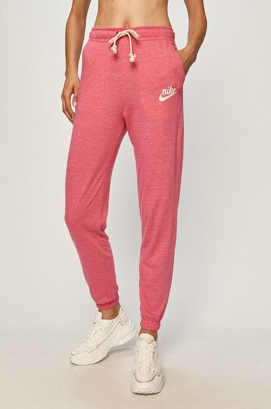 sýto ružová Nike Sportswear - Nohavice Dámsky