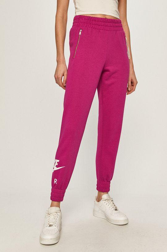 Nike Sportswear - Nohavice purpurový