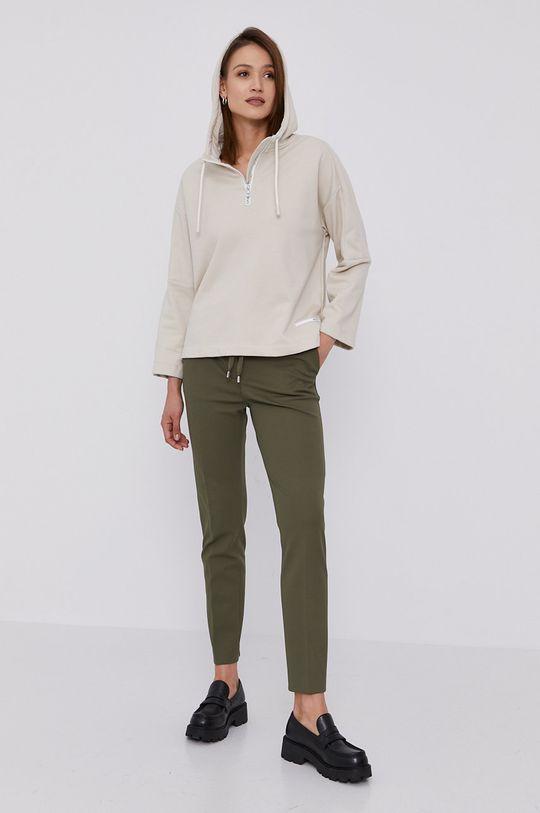 Hugo - Spodnie jasny oliwkowy