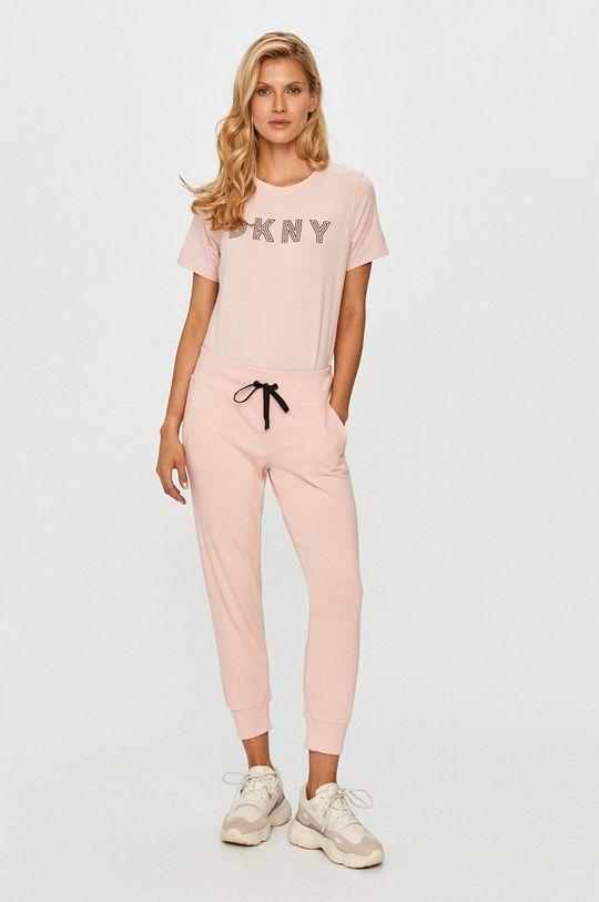 Dkny - Spodnie różowy